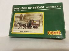 "HORSE DRAWN  DELIVERY VAN ""AGE OF STEAM"" VEHICLE KIT /HO /MERIT"