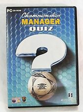 Championship manager quiz PC computer game CD-ROM