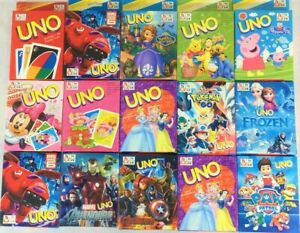 UNO cards Playing Cards character themed Avengers Pokemon Paw Patrol +