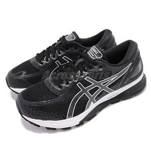 Asics Gel-Nimbus 21 4E Extra Wide Black Grey White Men Running Shoe 1011A168-001