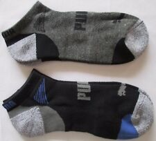 Puma Ankle Low Cut Mens Boys Sports Running Socks Twin Pack Black Sz 7 - 11 NEW