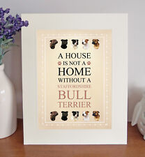 Staffordshire Bull Terrier Free Standing 'A HOUSE IS NOT A HOME' Picture Mount