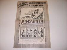 UNCHAINED ELROY HIRSCH 1955 ORIGINAL WARNER BROS MOVIE FILM PRESSBOOK (479)