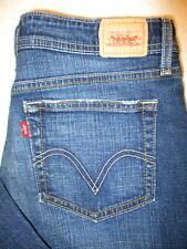 Levis 518 Superlow Boot Stretch Womens Dark Blue Jeans Size 11 M x 31 Mint