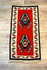 Feiner Gewebter Orientteppich Anatol Kazak Kelim Kilim Türkei Old tapis 60x30cm