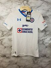 c91b59215 UNDER ARMOUR Dep CRUZ AZUL MEXICO Liga MX SOCCER JERSEY Sz Youth M New 65