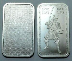 SAMURAI WARRIOR 1 Oz 999 Fine Silver Bar Bullion Rare. Uncertified. No Reserve !