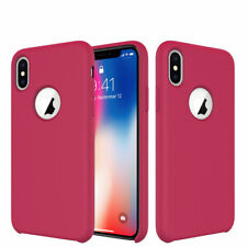 iPhone X, 8, Plus Silicone Case Cover Shockproof Microfiber Lining Qi Charging