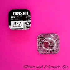 2x Maxell 377 Uhren Batterie Knopfzelle SR626SW SR626 AG4 Silberoxid Blister Neu