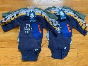 Gerber Long Sleeve Onesies® Bodysuits, 10-Pack - Newborn
