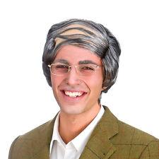 Adult COMB OVER WIG Grandpa Grandad Grey Baldy Mens Fun Stag Comedy Fancy Dress