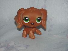 LPS Littlest Pet Shop #252 Brown Cocker Spaniel - Dog Puppy Green Eyes