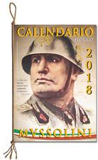 CALENDARIO STORICO MUSSOLINI 2018