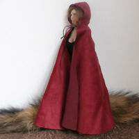 """1//12 Scale Old and Tattered Fake Sleeve Hooded Cloak Model for 6/"""" Action Doll"""