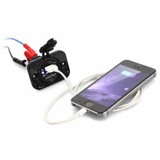DIY Waterproof Panel Mount Dual USB Power Socket Charger Marine Car Truck 12-24V