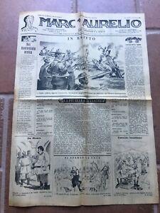 VECCHIO GIORNALE MARC'AURELIO 2 FOGLI 1942 OLD NEWSPAPER