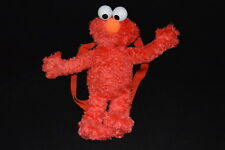 "Sesame Street 14"" ELMO Plush Backpack Toddler Adjustable Straps Toy Doll"