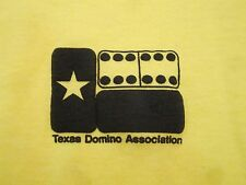 Vintage Texas Domino Association Board Games TX Yellow T Shirt XL