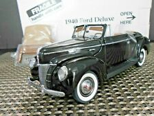 "Danbury Mint 1:24 1940 Ford Deluxe Convertible ""Black"""