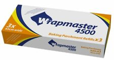 """3x Wrapmaster 4500 Parchment Paper Refills 450mm / 18"""" Wide X 50 Metres Long"""