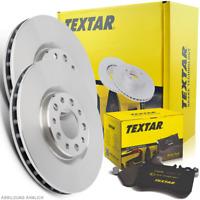 TEXTAR Bremsenset Ø302mm + Bremsbeläge Hinten VOLVO S60 S80 V60 V70 XC70