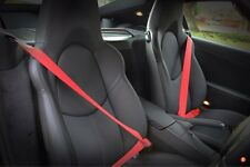 Porsche Seat Belts Guards OEM RED 997 987 996 911 GT3 GT2 Boxster Cayman Turbo
