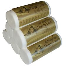 3 X ROLLS OF DISPOSABLE NAPPY LINERS