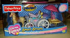 NEW IN BOX FISHER PRICE LOVING FAMILY SWEET STREETS VICTORIAN HORSE & CARRIAGE