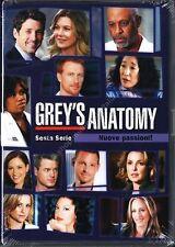 Grey's Anatomy - Serie TV - 6^ Stagione - Cofanetto Con 6 Dvd - Nuovo Sigillato