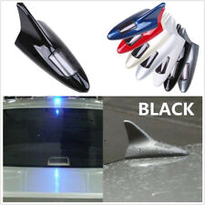 Solar Powered Shark Fin Antenna Decoration LED Warning Tail Light Roof Aerials