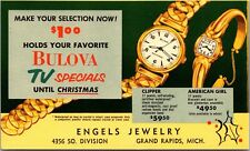 Advertising Postcard Bulova at Engles Jewelry in Grand Rapids, Michigan~131523