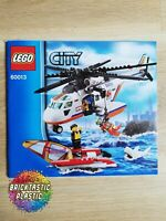 LEGO - INSTRUCTIONS BOOKLET ONLY Coast Guard Helicopter - City - 60013