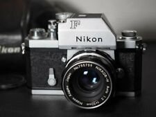 Nikon F 35mm SLR Film Camera w/ Working FT Meter and 50mm f2 Auto Nikkor - H