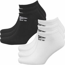 0fe8ab2361a Mens Umbro Ankle Socks Three Pack Sports White Black Mix Casual No Show  Socks
