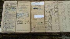 Libro de registro, Granero encontrar, 1950 500cc Motor Bicicleta Sunbeam, Reg no VMP 9, con certificado de ITV