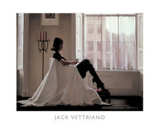 In Thoughts of You by Jack Vettriano Art Print Sexy Woman Window Poster 16x20
