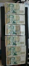 Bulgaria, 6 x matching design, 1000 Leva Banknotes. (5 x 1994 & 1 x 1997).