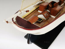 """Pilot Schooner Wander Bird Yacht Wooden Ship Model 38"""" WanderBird Sailboat New"""