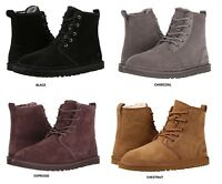 UGG Men's Harkley Chukka Boots Casual Fashion Shoes Suede Black Chestnut 1016472
