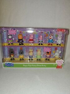 NEW Peppa Pig's Fancy Dress Party 12 Piece Figure Set Friends Taget Exclusive