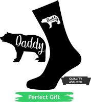 Papa Bear SOCKS Daddy Grandad Grandpa Uncle Personalised Birthday Novelty Gifts