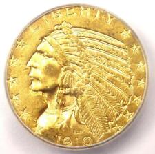 1910-D Indian Gold Half Eagle $5 Coin - ICG MS63 - Rare in MS63 - $2,380 Value!