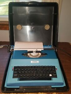 Vintage Royal Apollo 12-GT Portable Electric Typewriter SP-8500 w/ Case Works!