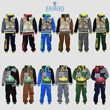 Kids Sweatsuit Boys Printed Polyester SweatPant Hoodie Top Set