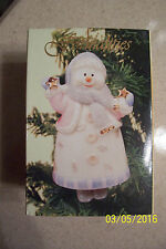 Hope Collection Hanging Snowman Bell Ornament - NIP