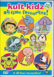 Kult Kidz DVD Crystal Tipps and Alistair Mary Mungo Midge Roobarb Fingerbobs Bod
