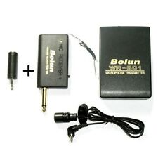 Wireless Lavalier lapel Microphone Receiver +Transmitter with 3.5mm adaptor
