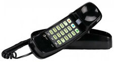 Black Corded Telephone Basic Wall-Mountable Phone Call Waiting Speed Memory Dial