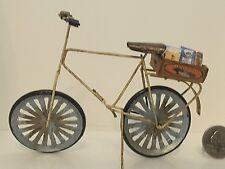 1:12 Scale Artist  Taller Targioni  Miniature Dollhouse Metal Bicycle Gold