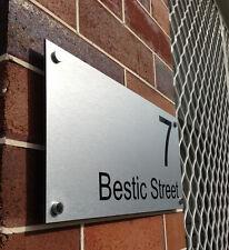 Custom Street Name House Number Sign Plaque - Original Unique Standoffs